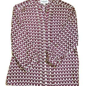 Elizabeth McKay silk pink and cream button down